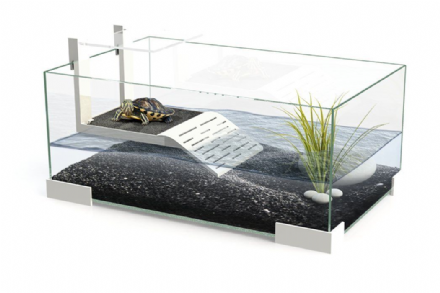 Tartarium 40 Turtle Terrapin Reptile Glass Tank with Ramp